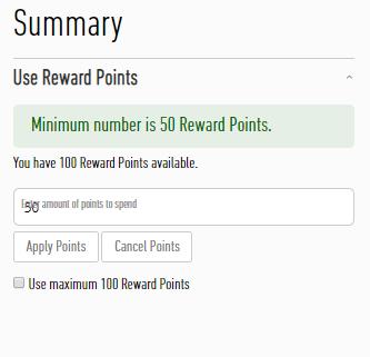 Redeem Reward Points, chronicpost